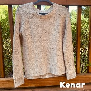 GUC Kenar Cream Knit Crew Neck Sweater